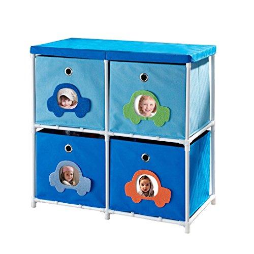 Altra Furniture Kids' 4-Bin Storage Unit, Blue