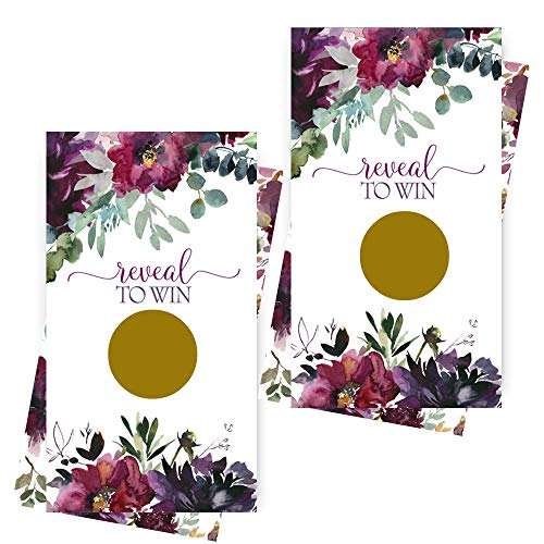 Shabby Floral Scratch Off Game Cards (Pack of 28) Party, Baby Shower, Wedding ()