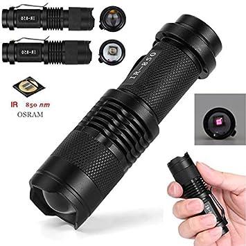 IR 850nm 5W Nachtsicht Infrarot LED Taschenlampe Jagd Licht IR Flashlight Rifle