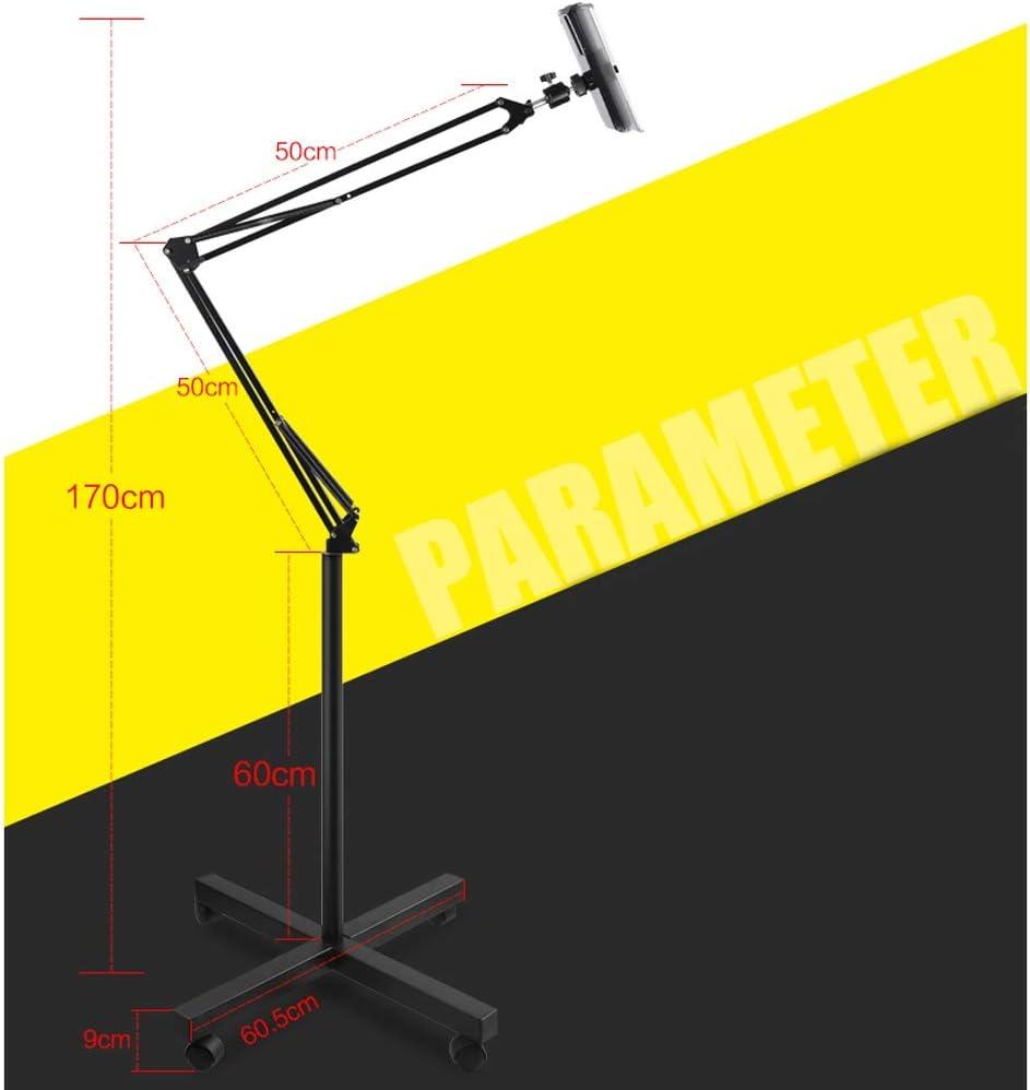 Floor Stand Treadmill Head Lazy Bracket Mobile Phone Bracket Multifunction Color : Black support 81 ZLZ