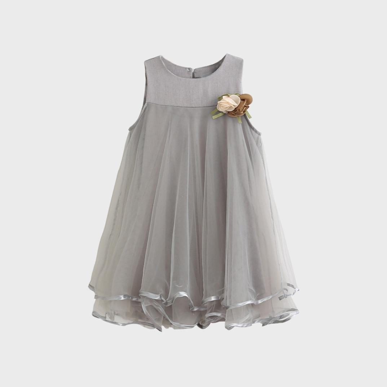 60d993ccc2f Amazon.com  Lurryly 2018 Baby Girl Summer Toddler Girls Chiffon Sleeveless  Drape Dress + Brooch Princess Party Dresses  Clothing