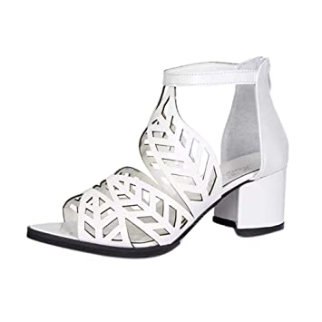 4ce018643872 HhGold Sommer Leder Keil Sandalen Schuhe für Damen Damen