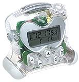 Oregon Scientific RM313PA/C ExactSet Fixed Projection Alarm Clock - Clear