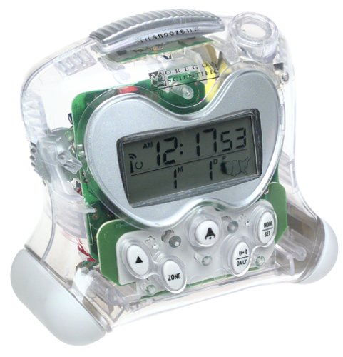 Oregon Scientific RM313PA/C ExactSet Fixed Projection Alarm Clock - Clear