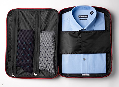 "Tuff Guy Travel Shirts & Ties Organizer,13"" x 15"" Anti-wrinkle Shirt Organizer, Waterproof Luggage Packing Bag for Men & Women,"