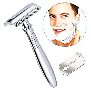 Breett Double Edge Safety Razor Shave Kit with 10 Blades for Men Shaving Grooming