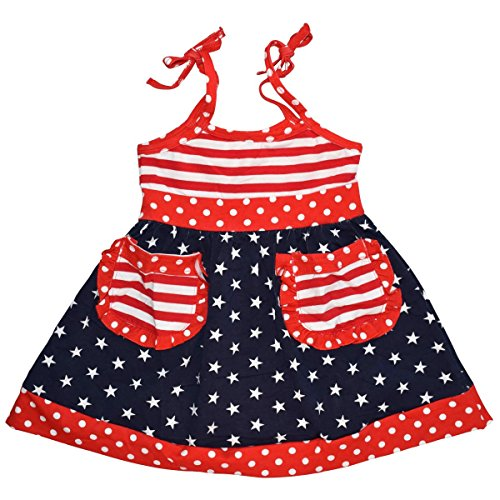 Unique Baby Girls Team USA Patriotic 2016 Olympics Summer Dress (3t, Red)