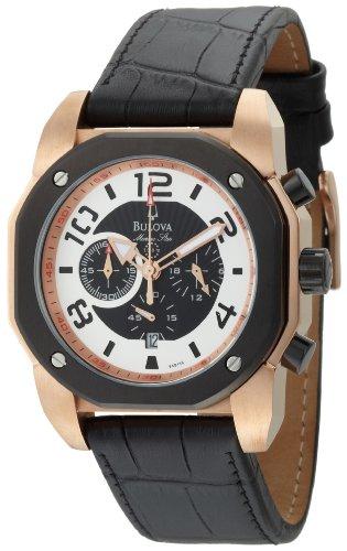 Bulova Men s 98B138 Marine Star Black Dial Strap Watch
