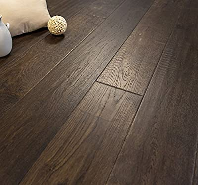 French Oak Prefinished Engineered Wood Floor, Badlands, 1 Box, by Hurst Hardwoods