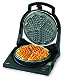 : Chef'sChoice 840 WafflePro Taste/Texture Select Waffle Maker Traditional Five of Hearts Easy to Clean Nonstick Plates Temperature Recovery with 6-Setting Color Control Dial, 5-Slice, Silver