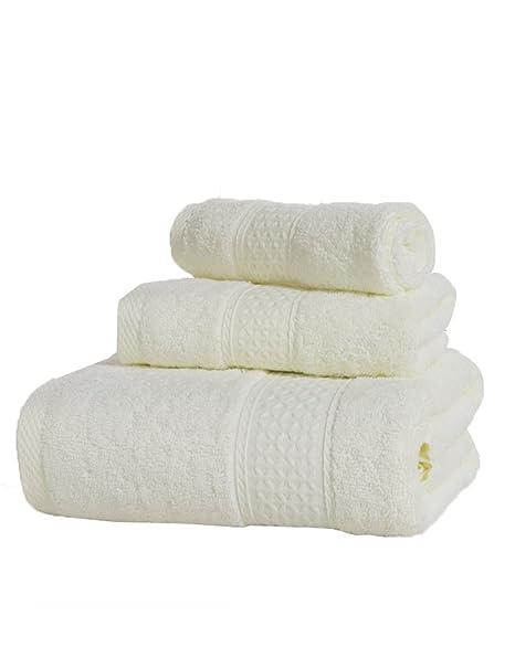 Toalla de algodón Simple Absorbente Toallas de algodón Suave Grande Toalla de baño de algodón Conjunto