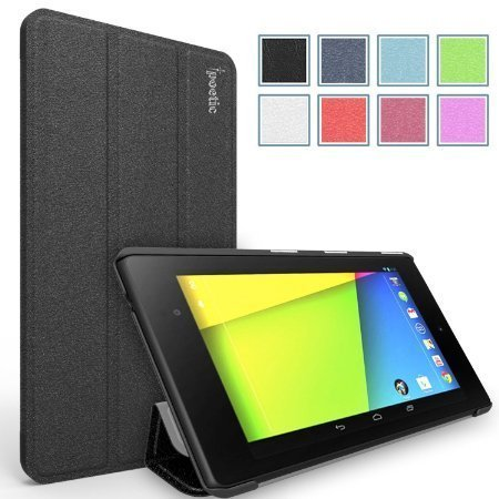 Google Nexus 7 2013 Case - Poetic Google Nexus 7 2013 Case [Slimline Series] - [Lightweight] [Ultra-slim] PU Leather Slim-Fit Trifold Cover Stand Folio Case for Google Nexus 7 2nd - Case 7 Inch Nexus Tablet