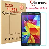 Aomax® For Samsung Galaxy Tab S2 8.0 Tempered Glass Screen Protector [Superslim 0.26mm,9H Hardness] [Retail Package] (Samsung Galaxy S2 8.0 T710/715)