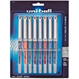 uni-ball Vision Stick Needle Roller Ball Pens, Fine Point Pens, Assorted Colors, Set of 8