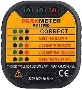 Peakmeter Plug Socket Tester
