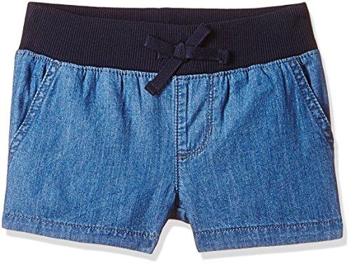 The Children's Place Big Girls' Denim Ribbed Waistband Short, Medium Denim, (Cotton Denim Jeans Shorts)