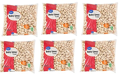 Great Value Baby Lima Beans, 16 oz, Pack of 6 by Great Value