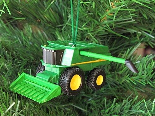 Custom John Deere Combine Harvester Christmas Tree Ornament