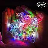 100pcs Multicolor LED Balloon Light,Round Led Flash Ball Lamp for Paper Lantern Balloon Birthday Party Wedding Decoration