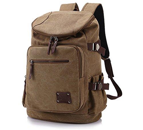 Szstudio Best Large Leisure Portable Canvas Backpack Rucksack Travel Outdoor Laptop Hiking school book Bag