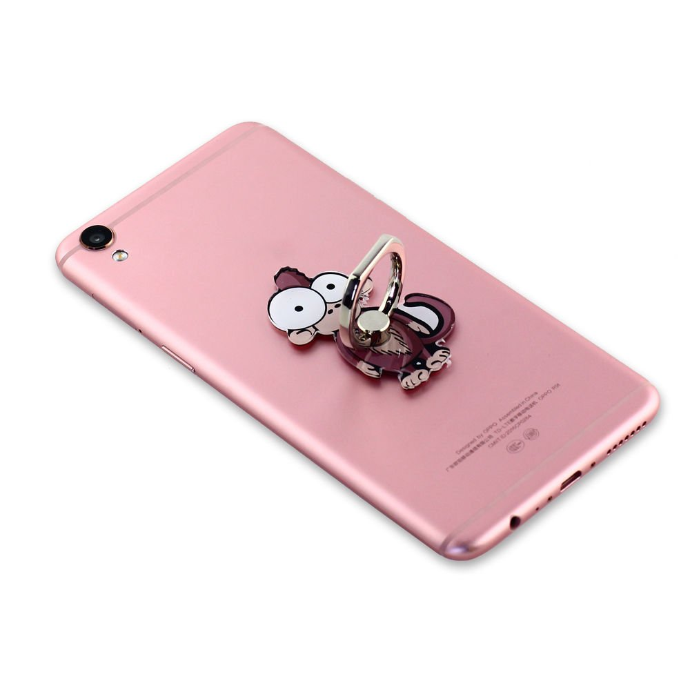 Cell Phone Finger Ring Holder Cute Animal Smartphone Stand 360 Swivel for iPhone, Ipad, Samsung HTC Nokia Smartphones Tablet,by UnderReef (Monkey) by UnderReef (Image #4)