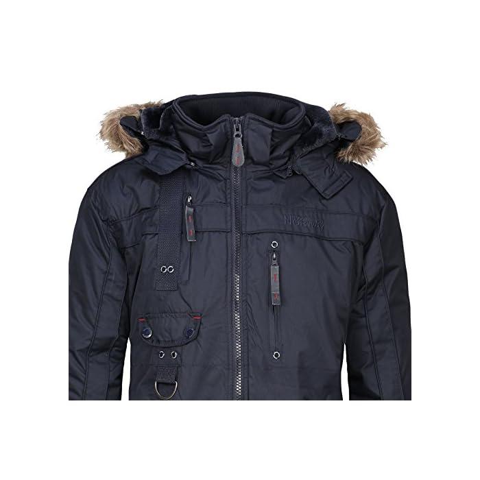51YMHX4nkKL Gran comodidad, capucha y piel sintética extraíble. Transpirable, forro muy cálido. 100% Poliéster