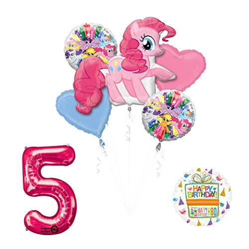 My Little Pony Mayflower Products Pinkie Pie 5th Birthday Party Supplies and Balloon Decorations -