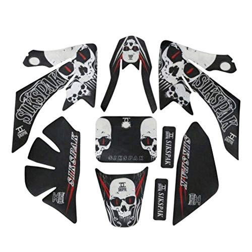 ZXTDR Plastic Fenders Fairing Body Sticker Graphics Decals Parts Kit For Honda CRF50 Motorcycle Dirt Pit Bike (Style 3)