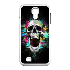 Skull Samsung Galaxy S4 9500 Cell Phone Case White uhdz