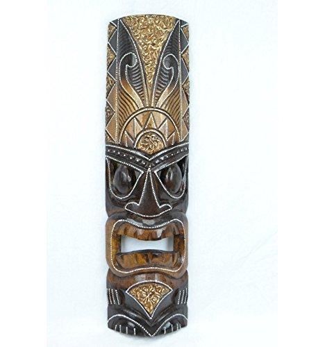 Maske Tiki H50cm aus Holz. Déco Maori, Handwerk Welt. Artisanal