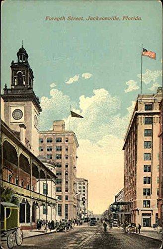 Forsyth Street Jacksonville, Florida Original Vintage Postcard