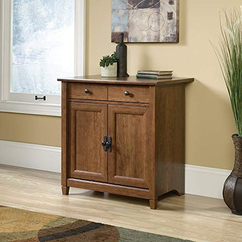 Wooden Floor Cabinet with Doors and Shelves, Kitchen Cupboard Stand, Printer Utility Table, Wood Coffee Station, Hidden Liquor Bar Storage Cabinet, Free Standing Storage Cabinet,Side Organizer
