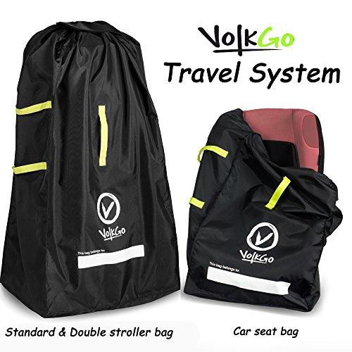 volkgo durable car seat travel bag with bonus e book ideal gate check bag for air travel. Black Bedroom Furniture Sets. Home Design Ideas