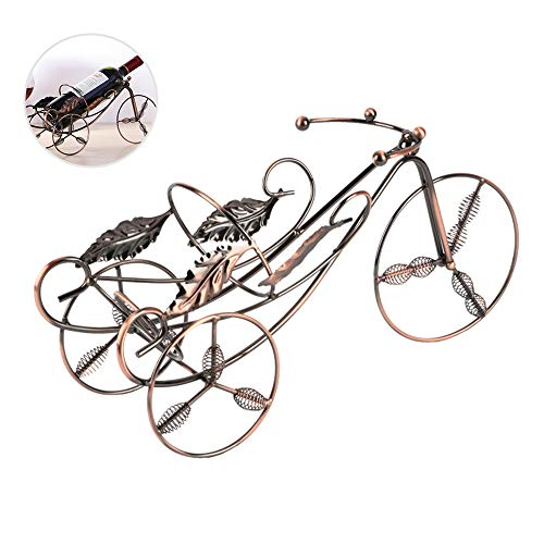 Wine Bottle Holder Stylish Wine Rack Accessories For Home Decor, Vintage Maple Leaf Bicycle Design Wine - Rack Wall Maple Wine