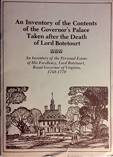 An Inventory of the contents of the governor