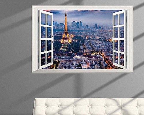 Boodecal Eiffel Tower in Paris Romantic Scenery 3D Fake Window ...