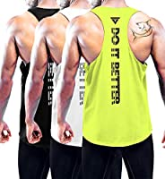 Boyzn 1 or 3 Pack Men's Workout Tank Top Y-Back Athletic Muscle Mesh Sleeveless Bodybuilding Gym S