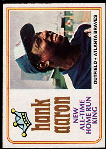 Baseball MLB 1974 Topps #1 Hank Aaron Braves