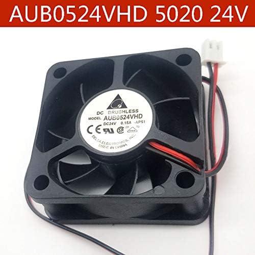 N A Cooling Fan for Delta AUB0524VHD,5020 5cm DC24V 0.15A 2-Line Inverter Cooler Fan