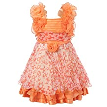 Richie House Girls' Chiffon Dress with Ruffles Size 2-6 Rh1446