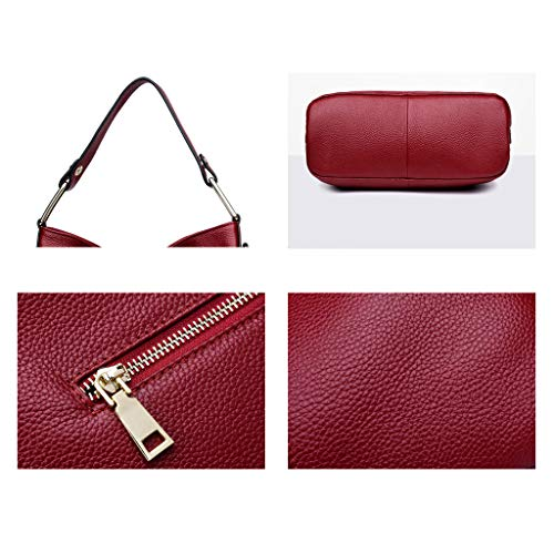 Bags Wallet Red Bag Capacity High Color Bag Soft Lady Big Crossbody Bags Top Handbag Shoulder Red Mujer Ocio qTxI6I