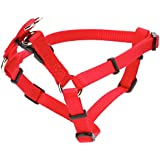 Coastal Pet Products DCP6345RED Nylon Comfort Wrap Adjustable Dog Harness, 3/8-Inch, Red