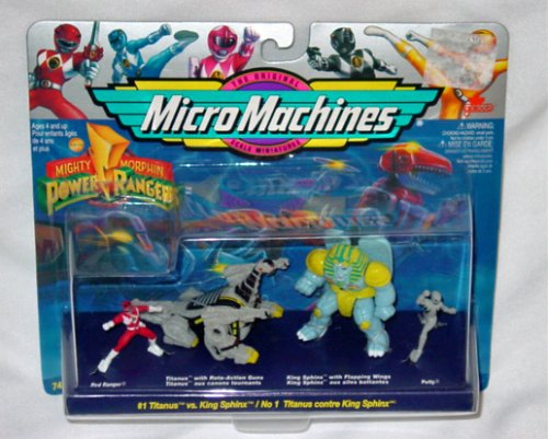 Power Rangers Micro Machines #1 Titanus Vs King Sphinx