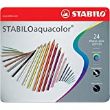Stabilo Aquacolor - Paquete de 24 lápices de color acuarelable, multicolor
