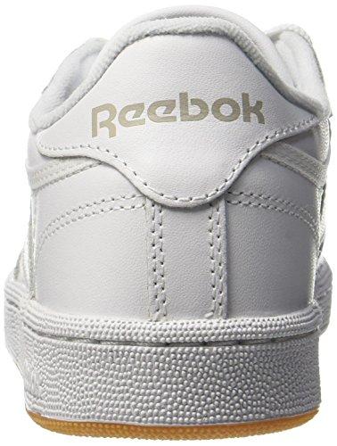 Basses Blanc gum Homme white C85 Club Baskets light Reebok Grey 6nBgZx
