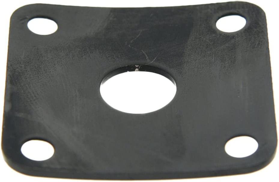 Dopro Black Metal Curved Base Bottom Jack Plate Square Jackplate fits Gibson LP Les Paul