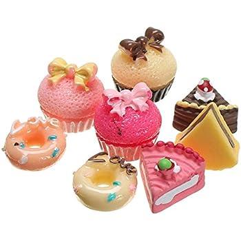 "15 pcs.Dollhouse Miniature Red Cupcakes 1//2/"""
