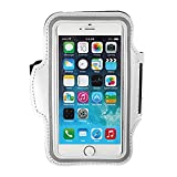 "Sport Gym Running Jogging Armband Case Cover Key Pouch Holder For 4.7"" iPhone 6 White"