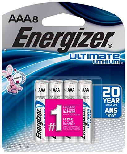 Energizer Ultimate Lithium AAA Batteries, 8 Count (High Energy Aaa Lithium Batteries)