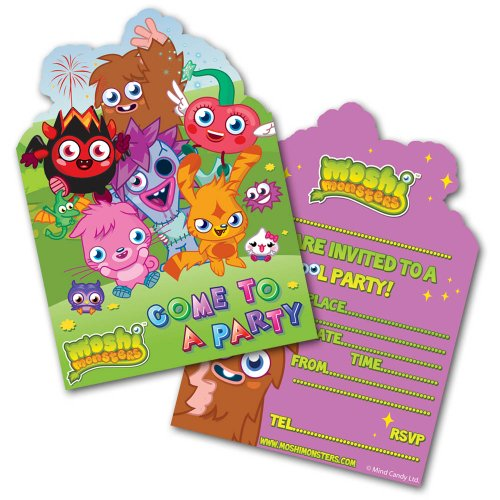 Moshi Monsters 6 Party Invites Invitations Style May Differ